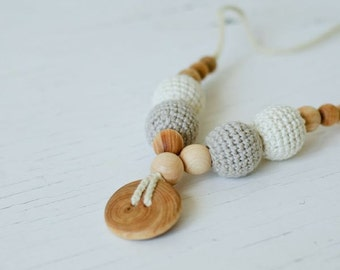 100% ORGANIC COTTON Nursing Necklace - KangarooCare Europe