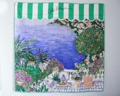 Vintage Louis Feraud Silk Scarf of Cote d'Azur
