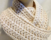 Crochet Infinity Scarf - Winter White - Fashion Accessories - Chunky Knit Scarf