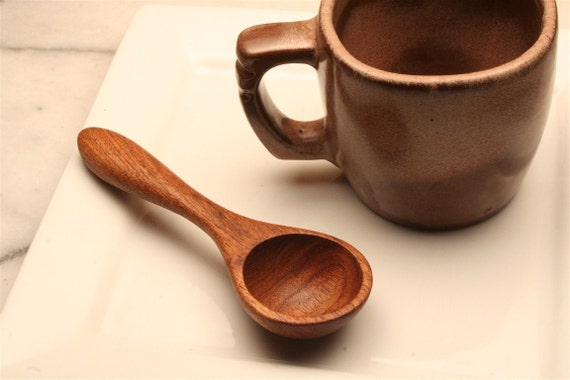 Wooden coffee scoop and 1 tblspn. measuring spoon carved from Honey Mesquite wood
