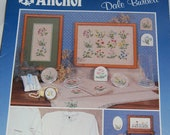 """Cross Stitch Booklet by Anchor of  """"Country Wildfowers"""" designed by Dale Burdett Vintage Published in 1989 Epsteam"""