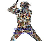 Reserved for DB 5 11 x 14 Personalized Baseball Photo Collage Silhouettes w/text