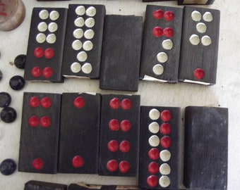 Vintage Dominoes are ready for altered action.