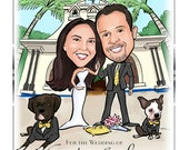 Cute and Funny Wedding Save the Date Cards and Magnets, Invitations - Custom Caricature from Your Photos