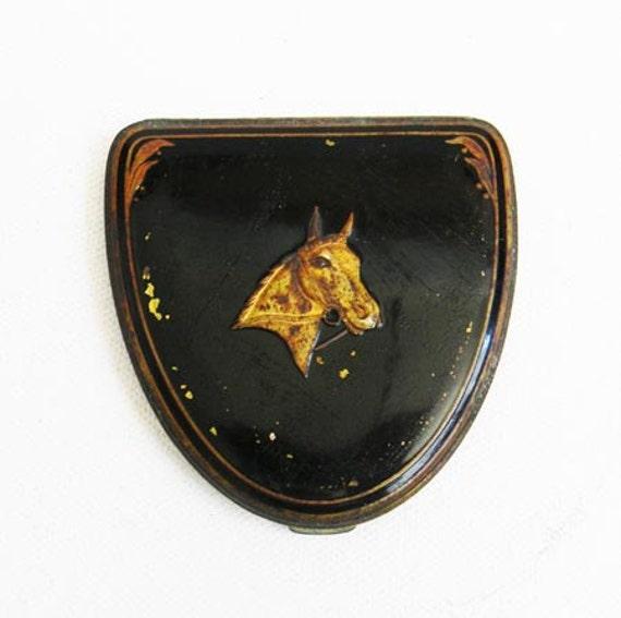 Antique Horse Compact  Coro Brand 1919
