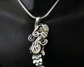 Sterling Silver Mermaid Necklace - Marina