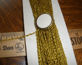 """Vintage Shiny Textured 1/16"""" Cord Trim- 13 yards -Green-Gold -Jewelry Making Gift Tie embellishment scrapbook weaving packaging"""