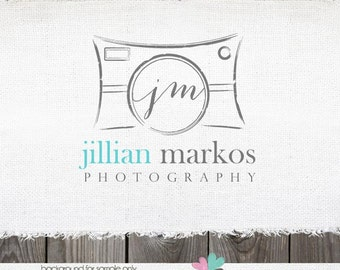 Premade Photography Logo - Vintage Inspired Camera Logo and Watermark Logo Design for photographers Name Text Logo