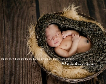 Crochet Baby Bowl/ Baby Nest/ Baby Pod/ Cocoon Photography Prop/COMPLIMENTARY SHIPPING