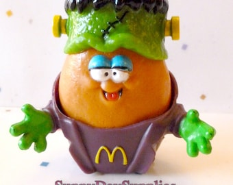 Vintage McDonald's Happy Meal toys, Halloween McNugget Buddies, Monster McNugget,Frankenstein,Chicken McNugget, HARD TO FIND, 1988, Food Toy