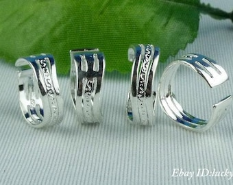 Two (2) Sterling  Silver Toe Rings