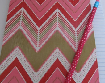 SALE, SALE, SALE!  Small Decorative Clipboard--Pink Chevron--Pink and Brown Dot