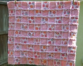 Pink Owl Baby Rag Quilt
