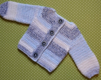 Shades of Blue Baby Cardigan Sweater with Buttons for Boys size 2T-3T