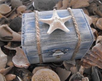 Starfish Shell Ring Box Romantic Shabby Chic Nautical  Beach Outdoor Wedding Ceremony