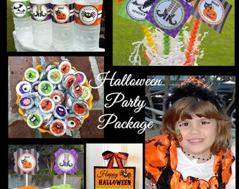 Halloween Party Package Printable - Fun and Fabulous Collection