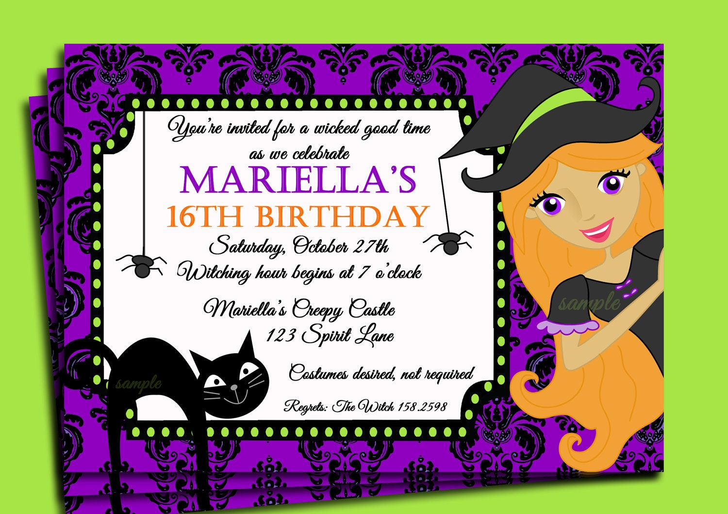 40th Birthday Ideas Free Halloween Invitation Templates