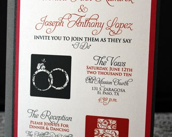 The Modern Symbol & Swirls Wedding Invitations (((( Sample))))