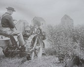 Sepia print -  Automobile mowing machines - 1911