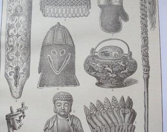 Sepia prints - Asiatic Art - original - 1911