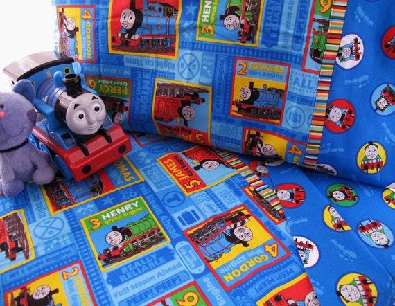 Boy Toddler Bedding Thomas The Train Print Crib Sheet Set 3 Pc