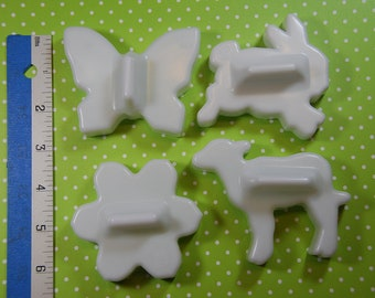 C & H  Vintage Cookie Cutters Flower, Butterfly, Bunny and Lamb