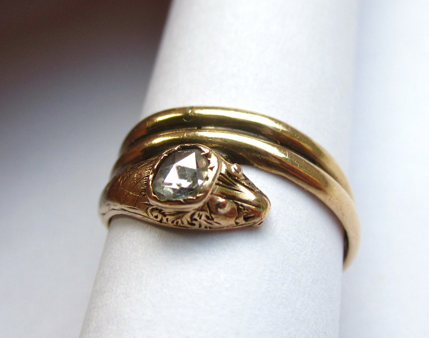 Victorian Snake Engagement Ring
