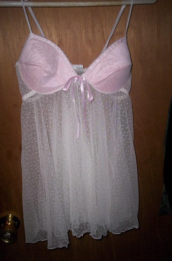 Vintage Lingerie Baby Doll Nightie With Panties By
