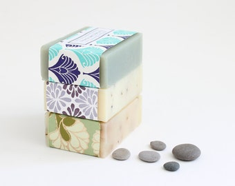 Soap Set of 3, Handmade soap, Natural Soap, Homemade soap, Cold Process Soap, Bath and Beauty, artisan soap, gift for her, soap gift set