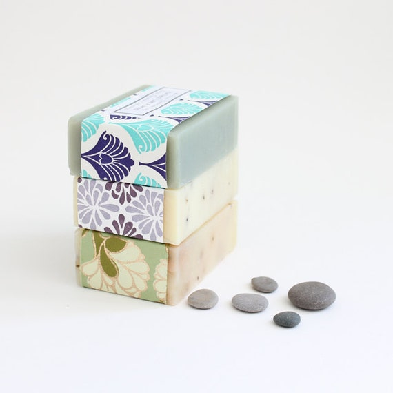 Handmade soap Soap Set of 3 gift idea Natural cold process essential oil soap gift set gifts for her bath and beauty bath & body
