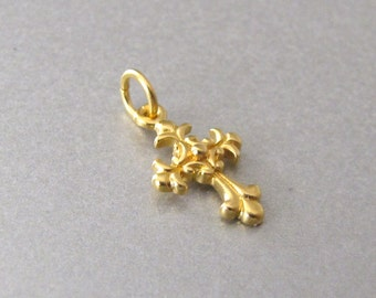 Mini Gold Cross Charm
