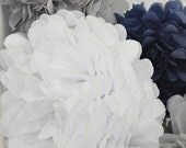 12 Tissue Birthday Party Poms- Your color choice- Sale