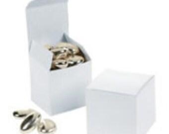 12 ea. White  Mini Gift (Favor) boxes - 2x2x2