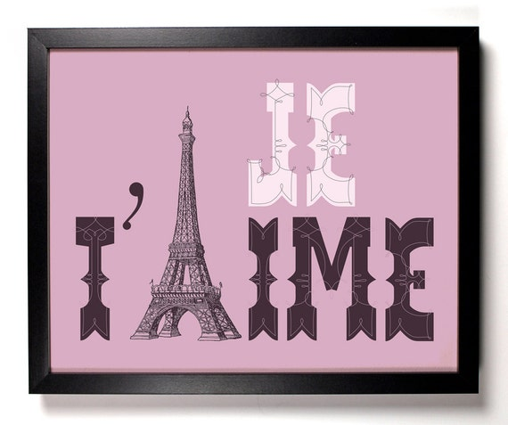 Items Similar To Je T 39 Aime Eiffel Tower Paris France Home