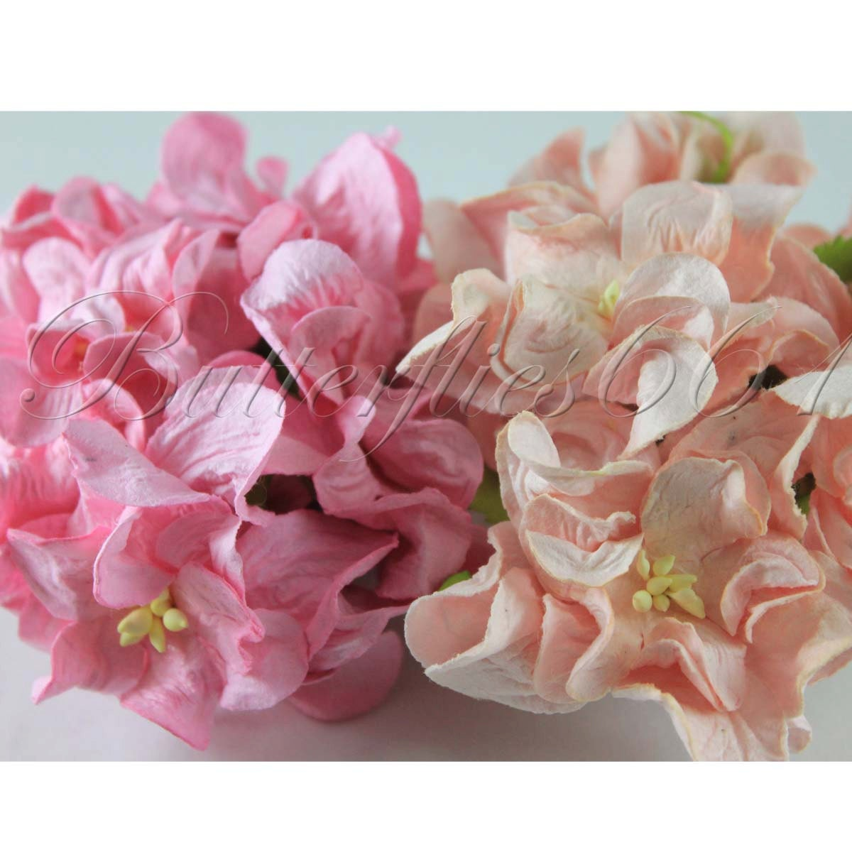 handmade mulberry paper flowers mixed pink and pale pink, Beautiful flower