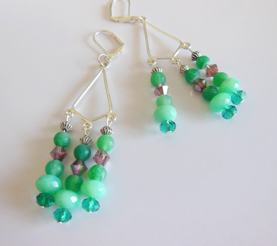 Green passion, chandelier earrings Reserve NINI