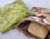 Set of 2 Reusable v2.0 Bread Loaf Bags - Designed to Fit Homemade Sandwich Loaves - Your Choice of Fabric
