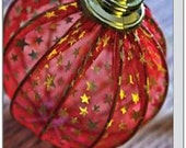 Red Ornament. Folded Photo Note Card