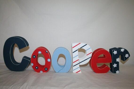 Items Similar To Baby Boy Nursery Letters Americana