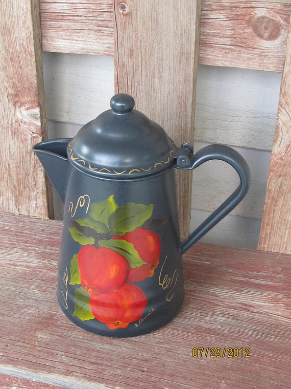 Black painted coffe pot coffee pot
