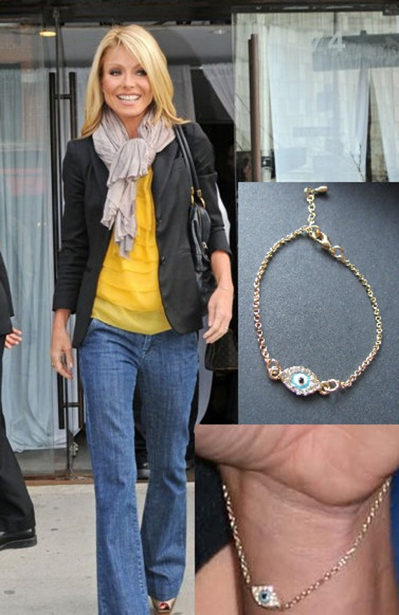 Items similar to New Gold Kelly Ripa Evil Eye Celebrity ...