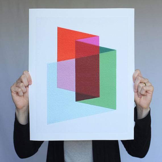 "Giclee print - ""Folds"" - 13"" x 16"" modern geometric abstract art"