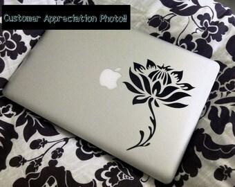Lotus Flower laptop DECAL- macbook iPad computer- vinyl sticker