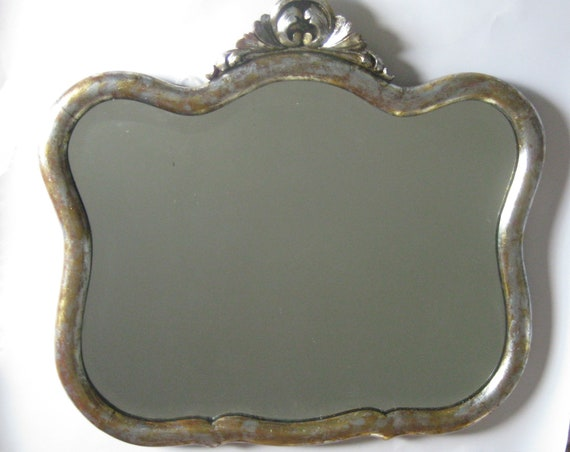 Gold Silver Antique Mirror