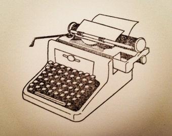 Typewriter Stationary Set // Handmade // Antique Style Typewriter // Stationery