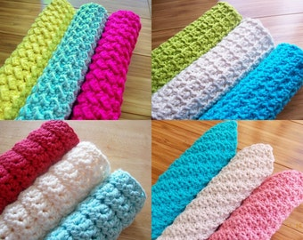 Any Two Spa Cloth Washcloth Crochet Patterns PDF