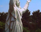 Religious Photography of Virgin Mary Our Lady of Lourdes Church Scenes made to Look Vintage Or Antique My own Photos