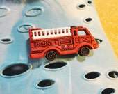 Fire Engine Truck Croc / Clog Button - Charm for Boys or Girls