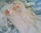 Newborn Girls Layette gown sleeper coming home outfit Newborn thru 3 months