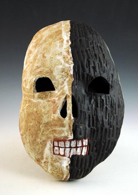 Ceramic Skull Mask, Day of the Dead, Dia de los Muertos